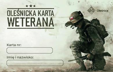 Oleśnicka Karta Weterana - przód